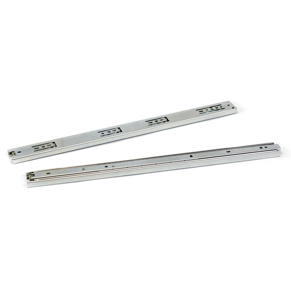 URBEST 2Pairs 10 Inch 3-fold Smooth Telescopic Slide Full Extension Ball Bearing Drawer Slides Side Mount (10 Inch)