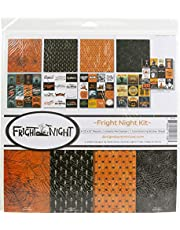 Reminisce Fright Night Scrapbook Collection Kit Paper Crafts, Multi Colored