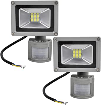 2X 20W SMD Foco LED con Sensor Movimiento,Proyector LED Exterior ...