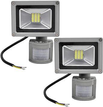 2X 20W SMD Foco LED con Sensor Movimiento,Proyector LED Exterior ...