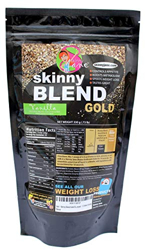 Skinny Blend Gold! Best Tasting Protein Shake for Women, Delicious Smoothie - Weight Loss - Low Carb - Diet Supplement - Weight Control - Appetite Suppressant (15 Servings, Vanilla) in USA
