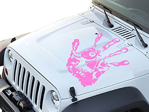 FGD Hand Print Skull Face Hood Decal Sticker Graphic 23.5