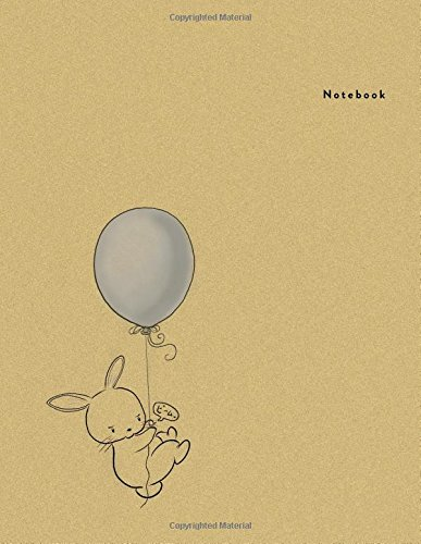 Notebook: Baby Rabit Balloon - Minimal Design Unlined Notebook - Large (8.5 x 11 inches) - 100 Pages (Minimal Design Notebooks) (Volume 16)