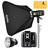 Godox AD600BM AD Sync 1 / 8000s 2.4G Wireless Flash Light Speedlite,Godox X1T-O for Olympus Cameras,AD-R6,80cmX80cm /32''X32''Softbox