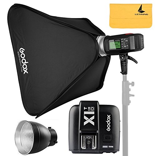 Godox AD600BM AD Sync 1 / 8000s 2.4G Wireless Flash Light Speedlite,Godox X1T-O for Olympus Cameras,AD-R6,80cmX80cm /32''X32''Softbox by Godox