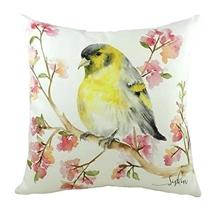 7d9949063e9 EVANS LICHFIELD BRITISH BIRDS SISKIN 43 X 43CM CUSHION  Amazon.co.uk   Kitchen   Home