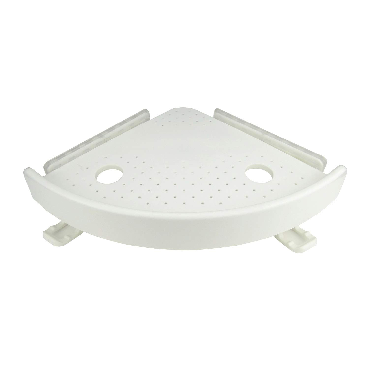 Plum Garden Corner Storage Holder Shelves, Fan Shaped Corner Holder for Bathroom, Kitchen, Balcony, Marble, Drywall, Glass