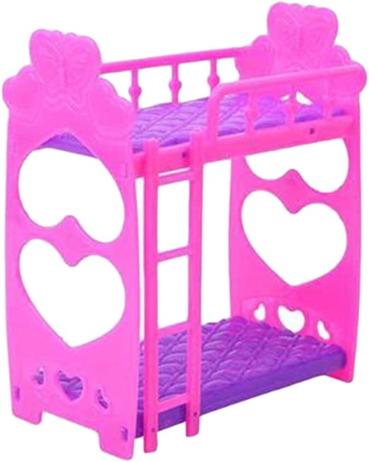 Literas de muñeca de 3,5 Pulgadas con Escalera Literas de muñeca de plástico Regalo de Juguete para niños: Amazon.es: Hogar