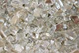 Reflective Fire Pit Fire Glass in Crystal, 10 Pounds