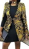 BYWX-Women Hip Hop Split Sleeve African Print Blazer Cape Cloak Jacket Black US S