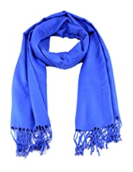 Fabulous Large Soft 100% Pashmina Scarf Shawl Wrap (68 Colors to choose) (Royal Blue)