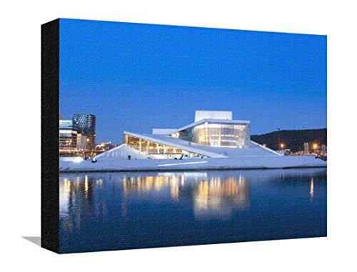 Oslo Opera House, Snohetta Architect, Oslo, Norway, Scandinavia, Europe Stretched Canvas Print by Marco Cristofori - 12 x 16 (Opera House Architect)