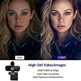 2020 [Upgraded] 1080P Webcam with Microphone