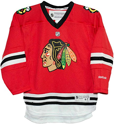 Chicago Blackhawks Home Red Screen Print Child 4-7 Jersey (Screen Classic Print Jersey)