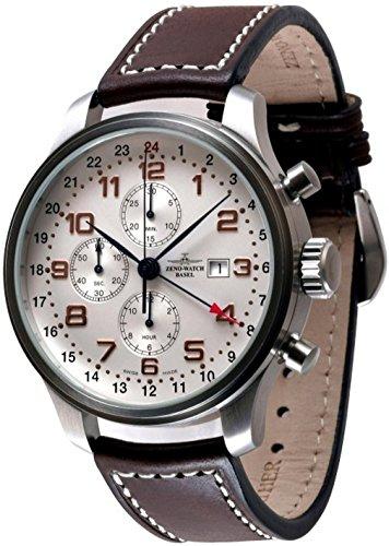 Zeno-Watch Mens Watch - OS Retro Chronograph GMT - 8753TVDGMT-f2