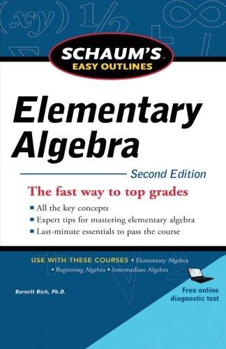 Schaum's Easy Outline of Elementary Algebra, Second Edition