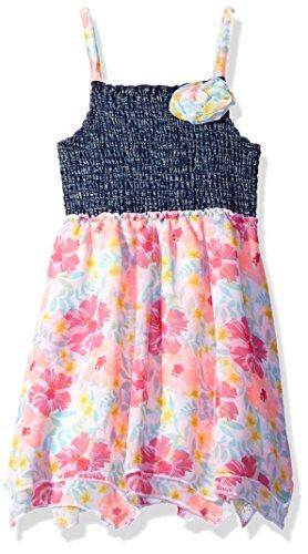 ls 1 Pc Hibiscus Chiffon Dress, Multi, 6X ()