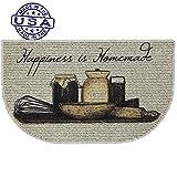 Kitchen Sink Floor Mats Mainstays Happiness Is Homemade Printed Slice Kitchen Mat (1)