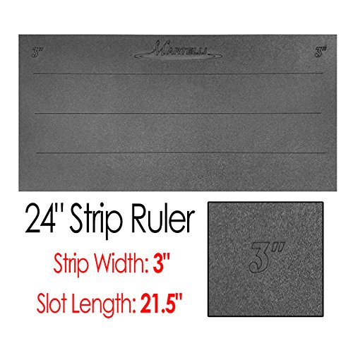 Martelli 24'' Strip Ruler with 3'' Wide Strips by Martelli