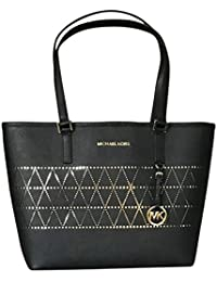 Women's Jet Set Travel Carry All Medium TOTE Leather Handbag