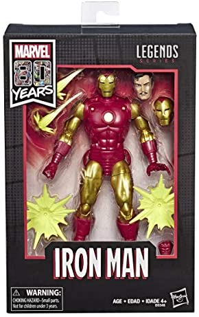 Hasbro Marvel Comics 80th Anniversary Legends Series 6-Inch-Scale Vintage Comic-Inspired Iron Man Collectible Action Figure