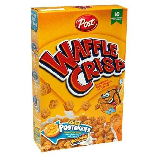 Post Waffle Crisp Cereal, 11.5-oz. Boxes (Pack of 6)