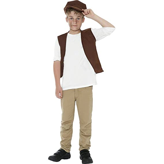 Disfraz infantil de campesino medieval traje infantil ...