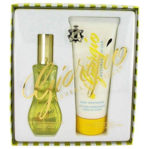 Giorgio for Women by Giorgio Beverly Hills, Gift Set - 3 oz Eau De Toilette Spray + 6.8 oz Body Lotion (Giorgio Mandarin Body Lotion)