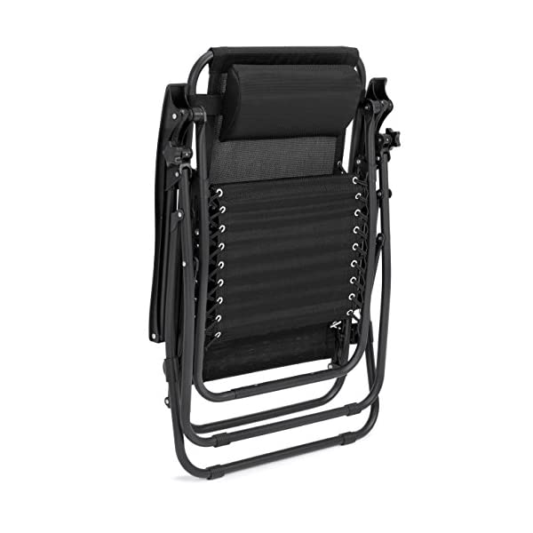 Best-Choice-Products-Zero-Gravity-Chairs-Case-Of-2-Black-Lounge-Patio-Chairs-Outdoor-Yard-Beach-New