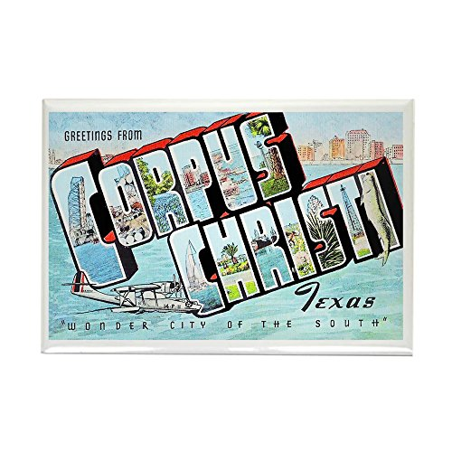 CafePress Corpus Christi Texas Greetings Rectangle Magnet, 2