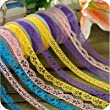 Homgaty 5pcs Roll Decorative Sticky Adhesive Lace Cotton Washi Tape for DIY Craft