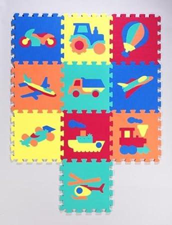 10 Teiliges Flip Flop Puzzlematten Puzzle Teppich Set Mit Fahrzeug