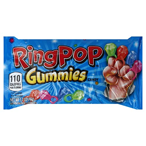 Ring Pop Gummies Rings Candy - 16Count Assorted Flavors Variety Pack -