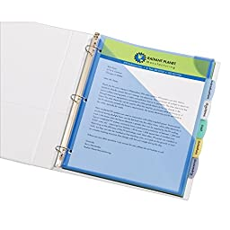 Avery Write & Erase Plastic Dividers with Expandable Pockets & Corner Lock, 5 Multicolor Tabs, 1 Set (16183)