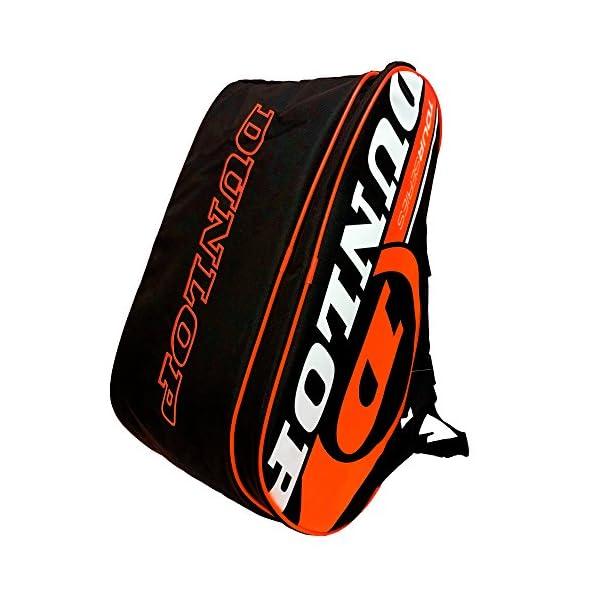 Dunlop - Borsa per racchette da paddle Tour Intro Nero/Arancione Fluo 3 spesavip
