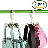 2pcs 360 Degree Rotating Hanger Hooks,Closet Accessory Organizer for Ties and Belts , Purses, Handbags, Backpacks, Scarves,Plastic 2 Hooks Storage Racks