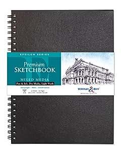 Stillman & Birn Epsilon Wirebound Sketchbook, Heavyweight 100lb, Natural White, 62 Sheets, 9x12