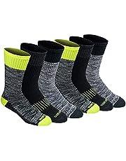 Dickies Socks Dri-Tech Crew High Vis Orange/Black/FreeRun Assort Men's Shoe 6-12; Sock 10-13