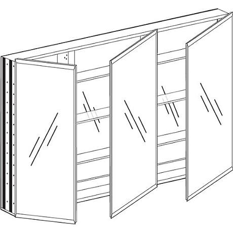 Broadway Triple Door Medicine Cabinet 48 In W X 30 In H