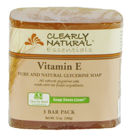 Clearly Natural Glycerine - Clearly Natural Glycerine Bar Soap, Vitamin E, 3 Count