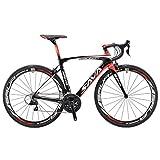SAVADECK HERD 6.0 T800 Carbon Fiber 700C Road Bike SHIMANO 105 5800 Groupset 22 Speed Carbon Wheelset Seatpost Fork Ultra-light 18.3 lbs Bicycle Black Red 48cm For Sale