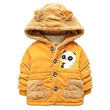 Happy Cherry Baby Kids Boys Cute Panda Jacket Coat Hoodie Outerwear Snowsuit