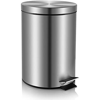 fortune candy step trash can garbage can with lid small trash can for bathroom. Black Bedroom Furniture Sets. Home Design Ideas