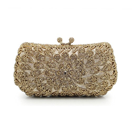 à Pour Creux à Sac Sac Champagne Sacs D'embrayage GSHGA Diamant à Main Nuptiale De Soirée Femmes Fleurs Sac Main Sacs Gold Sacs w7xEP8qH