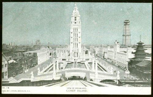 Island Dreamland Coney (View of Dreamland Coney Island NY undivided back postcard 1900s)