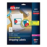 "Avery White Laser Labels for Color Printing, 3"" x 3-3/4 Label, 150 per Pack (6874)"