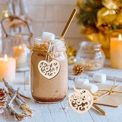 Euone  Valentine ClearanceSales!!! , 10PC Wooden Pendant Wedding Decoration Party Family Decoration from Euone_Home