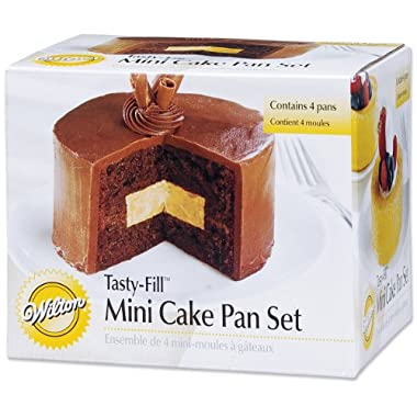 Wilton 2105-155 Mini Tasty Fill 4-Piece Pan Set
