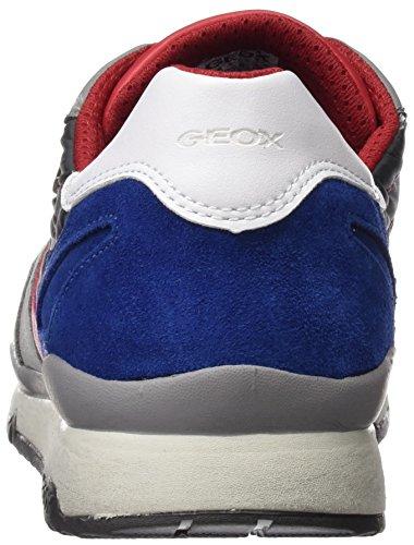 U Hombre Zapatillas a ABX Stone B Geox Grey Sandford Gris para Dk dF410XfW