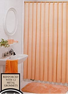 Better Home Solid Deluxe Heavy Weight Shower Curtain Liner Peach